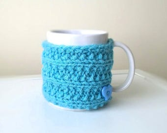 Knitted Mug Cozy, Coffee Mug Sweater, Coffee Mug Cozy, Knit Cup Cozy, Coffee Mug Sleeve, Unique gift for husband, Hostess Gift, winter gift