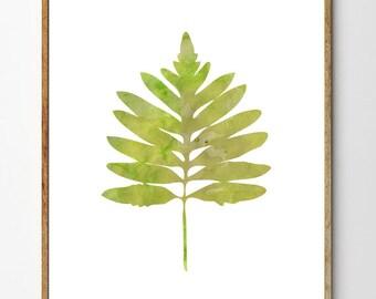 Fern no.5 - Fern Print, Botanical Print, Watercolor Flowers, Floral Painting, Fern Art, Nature Art Print, Botanical Poster