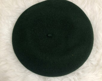 Vintage Dark Green Classic French Beret