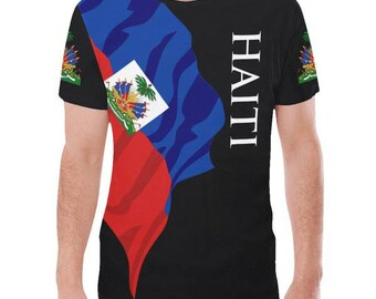 Haiti Men's Classic Flag Tee 2.0/Haitian/Haitian shirt/Haiti gifts/Haiti items/Haiti shirt/Haiti Tshirt/Haiti T Shirt/Haiti Love/Haiti Pride