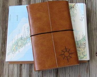 compass explorer travel journal with maps  by tremundo