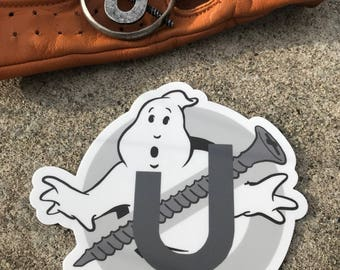 "Ghostbusters Screw U 4"" Sticker - Holtzmann Inspired Logo Vinyl Sticker"