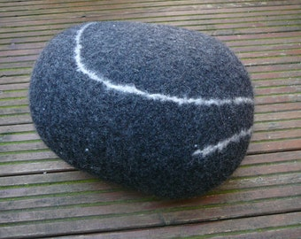 felted Pebble pillow
