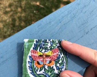 Moth Hand Embroidered Patch