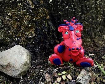 Polymer Clay Dragon 'Rider' - Limited Edition Handmade Collectible
