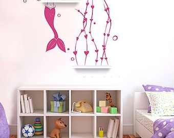Mermaid Shelf Decal (decal only)