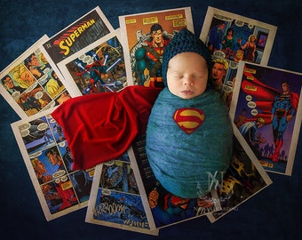 Superbub - Newborn Digital Backdrop - Poppet