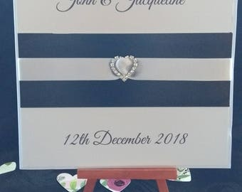 6x6 Card Style Wedding/Evening Invitation with envelopes Pack of 10