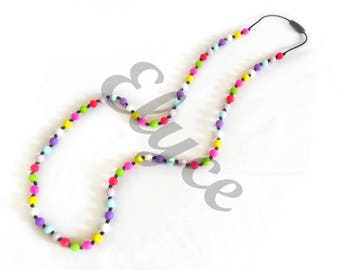 Teething necklace to chew for MOM and baby, GIULIA silicone