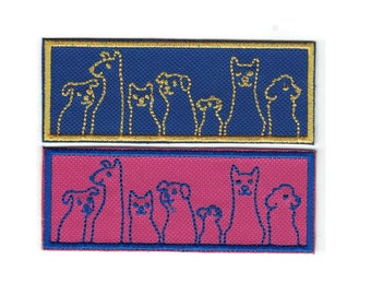 Embroidered Dogs Dogs and More Dogs Patch Iron On Applique