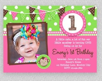Glamour girl birthday spa invitation glamour girl birthday girls monkey birthday invitation girls monkey invitation printable monkey invitation 1st monkey birthday filmwisefo Choice Image
