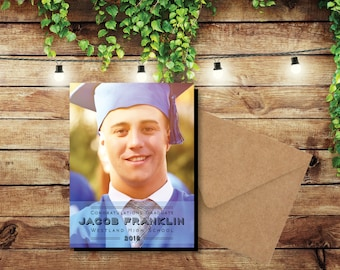 Notable Graduation Photo Magnets, personalized, fridge magnets, graduation, photo magnets, high school, college, class of 2018 + Envelopes