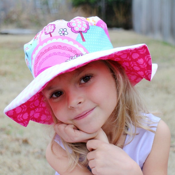 Wide brim sun hat for baby girls radiant orchid fuchsia
