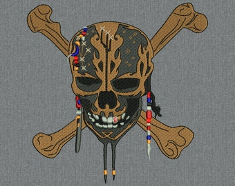 Skull - Pirates of the Caribbean - Dead-Men-Tell - Machine embroidery design - instant download