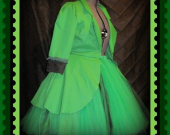 Tutu Skirt Plus Size Gothic Jacket Outfit customize your in your colors
