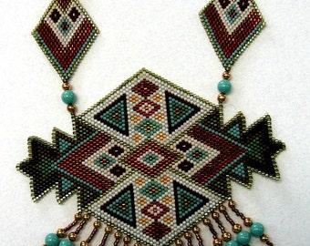 Peyote Stitch Patter for Dessert Diamonds Necklace
