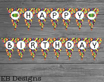 Hungry Caterpillar Birthday Banner