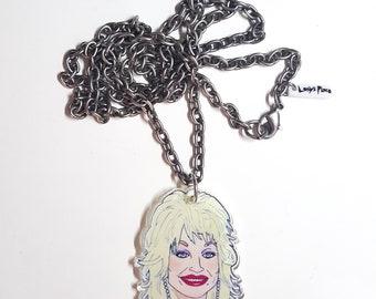 Backwoods Barbie Acrylic Pendant Necklace