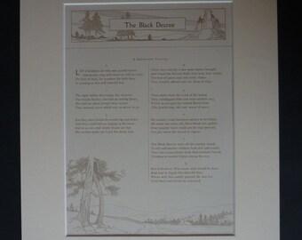 Antique Christmas Carol Print - Sheet Music - Available Framed - British Carol Singing - Black Decree - Shropshire Song - King Herod Print