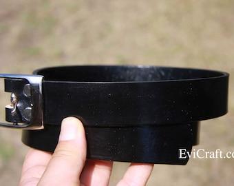 belt for business suit, Black PLUS size leather belt, handmade belt, black belt, evicraft Australia