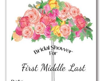 Customizable Umbrella Wedding/Bridal Shower Invitation - [Digital File ONLY]