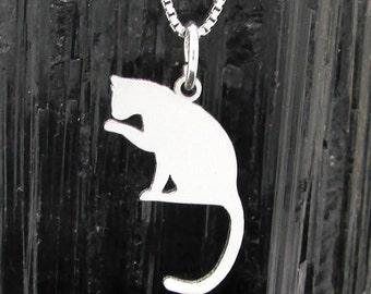 Cat Silhouette pendant, Cat Silhouette Pendant # 6