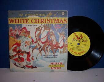 Vintage Christmas Record, 1950's Children's Record, I'm Dreaming of a White Christmas, 78 RPM