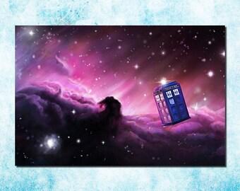 Dr Who The Tardis, Canvas Framed Wall Art