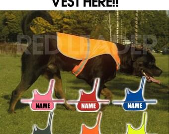 CUSTOM PRINTED Dog Vest Hi Viz Personalised With Name Text Safety Jacket Hi Vis Personalized Customized Dog Clothes