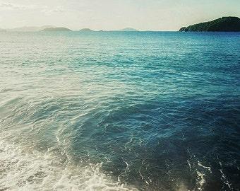 "Carribean Photography, Ocean Tropical Beach Print. ""Tide Pool"" St. John, USVI, Aqua,Turquoise, Wall Art, Home Decor. 8x10, 11x14, 16x20"