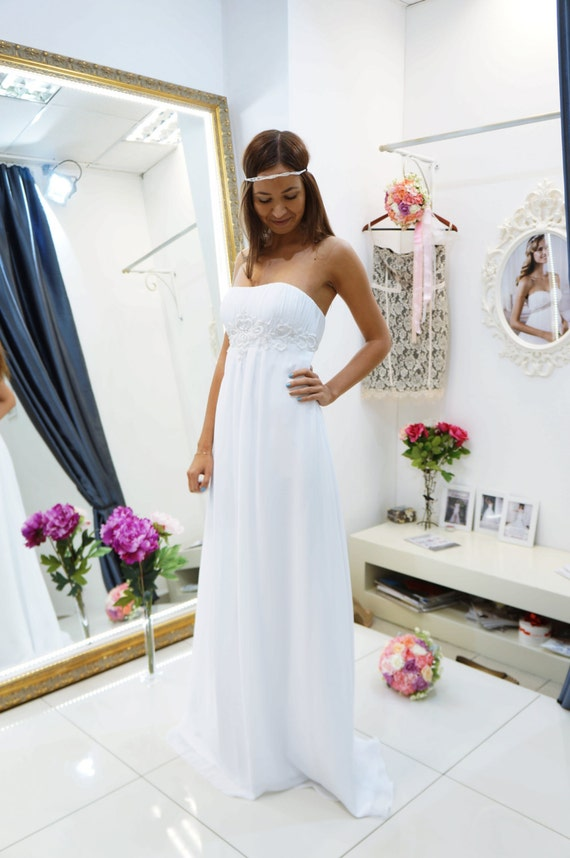 Hochzeitskleid Afrodida Strand Brautkleid Empire Brautkleid