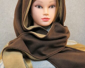 Hooded Scarf, Fleece Hooded Scarf, Scoodie, fleece scoodie, scoodie hooded scarf, reversible hooded scarf, fleece scarf, hooded fleece scarf