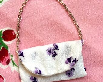 1:6 scale petit point purse for Barbie & fashion dolls