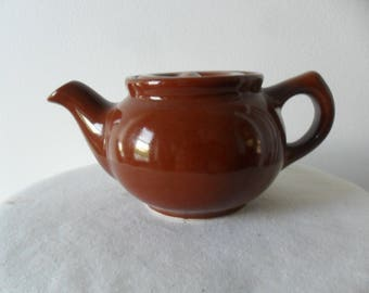 Small Vintage Brown Teapot~Unique Teapot~Mini Teapot~Ceramic Teapot