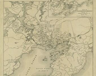 1919 Map of Gloucester, Massachusetts