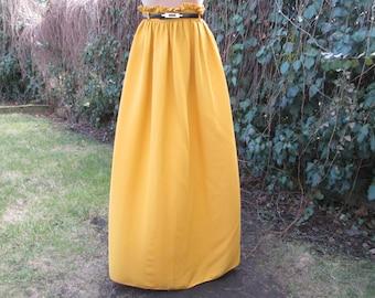 Long Yellow Skirt / EUR 34 / UK6 / Viscose / For Tall Girls