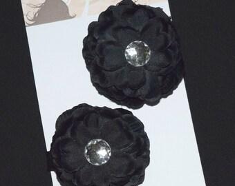 Black Flower Hair Clip Set - Buy 3 Items, Get 1 FREE