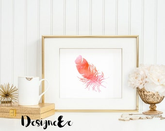 Print - Watercolor Feather