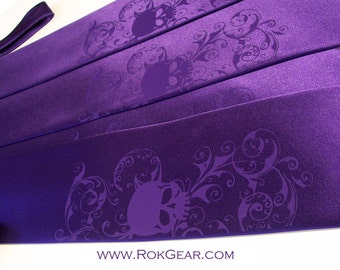 5 Men's microfiber skull ties, custom colors print to order in colors of your choice Skull ties by RokGear