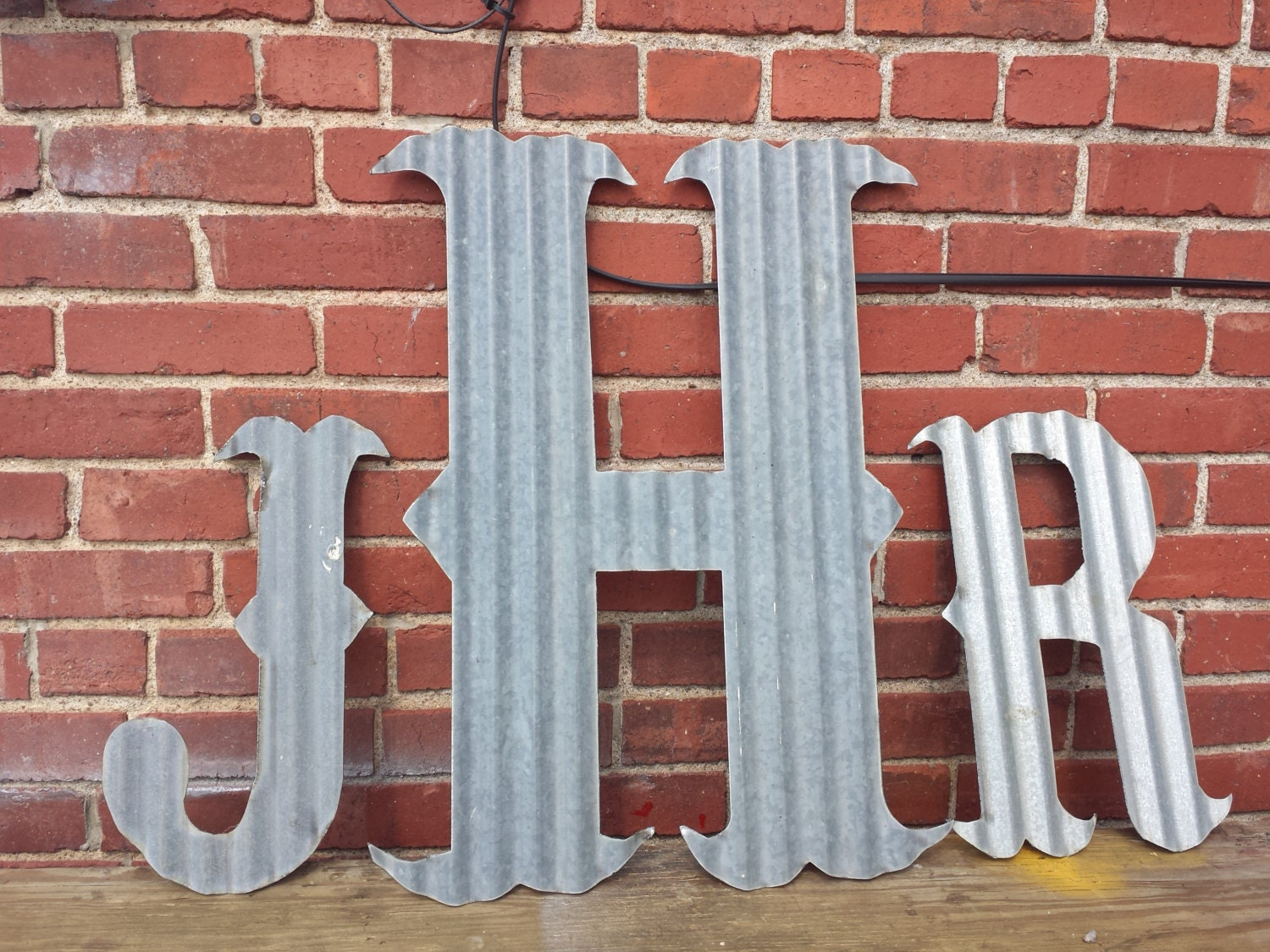 Tin Letters Kansas Barn Tin Letters Large 24 Marquee Monogram