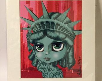 "Lady Liberty (Statue of Liberty) 11x14"" art print by deShan"