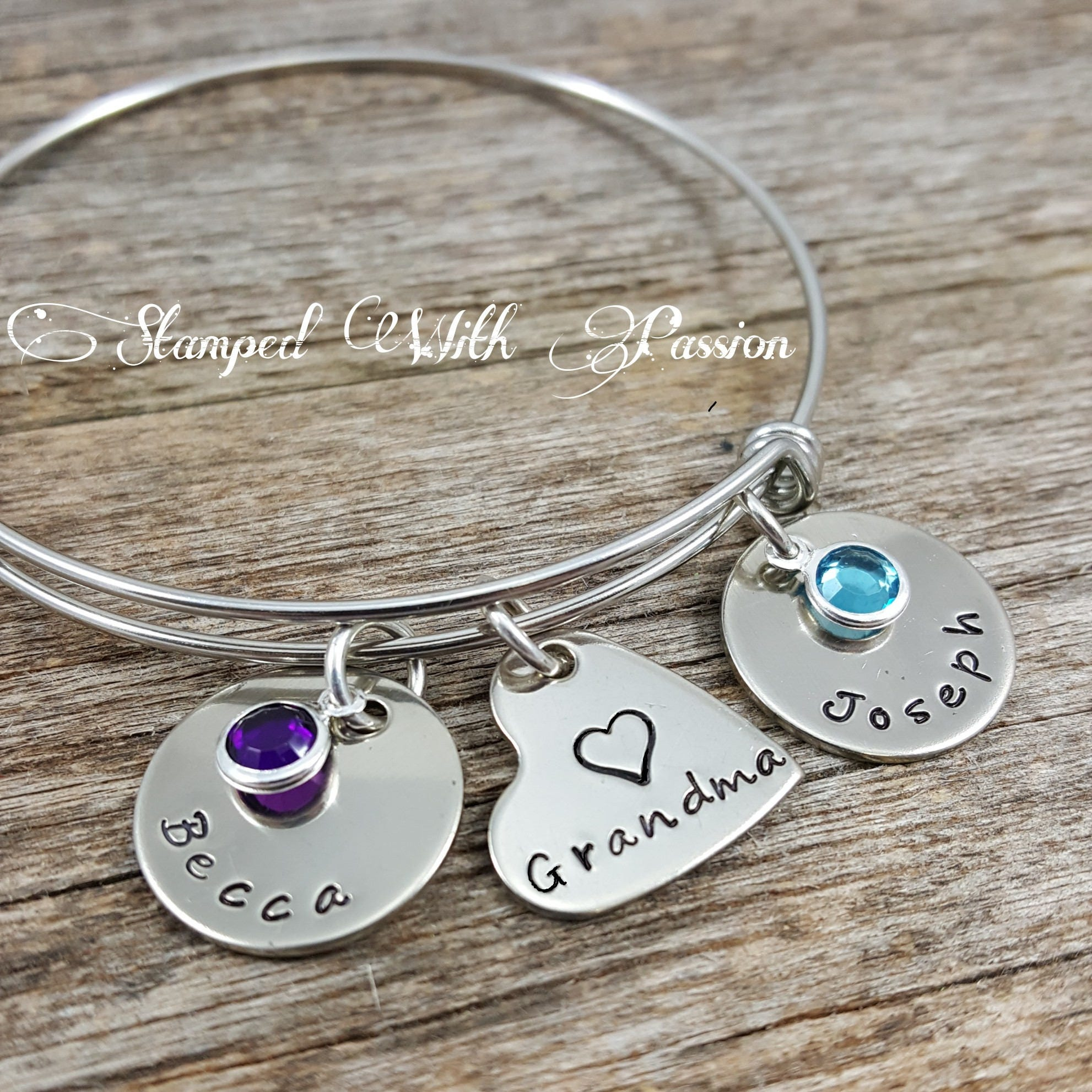 zoom bracelet pwaw childs personalized grandma name il gift nana child listing s fullxfull for grandchild