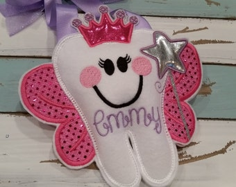Personalized Tooth Fairy Pillow~Princess~Girls Tooth Fairy Pillow~Princess Tooth Pillow~Princess Crown Tooth Fairy Pillow~Gift~Crown~Tiara