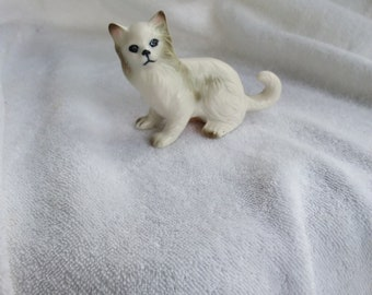 Vintage Porcelain Lefton Persian Kitty Cat Figurine