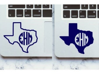 Texas State Monogram Permanent Decal