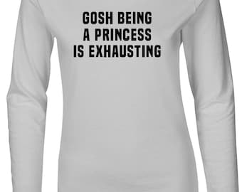 Gosh Being A Princes Women's Fitted Long Sleeve T-Shirt