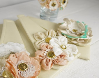 Shabby chic bridesmaids clutches, Personalized Bridesmaids Gifts