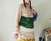 Knitting Pattern Yospun Alaskan Gown Dress Tunic Sweater Dress Bulky