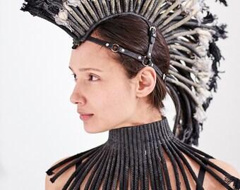 Mohawk, Ropes mohawk, Burning man headdress, warrior mohawk