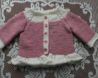 Pink&White Cardigan